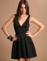 ASOS-Deep-V-Bow-Front-Dress